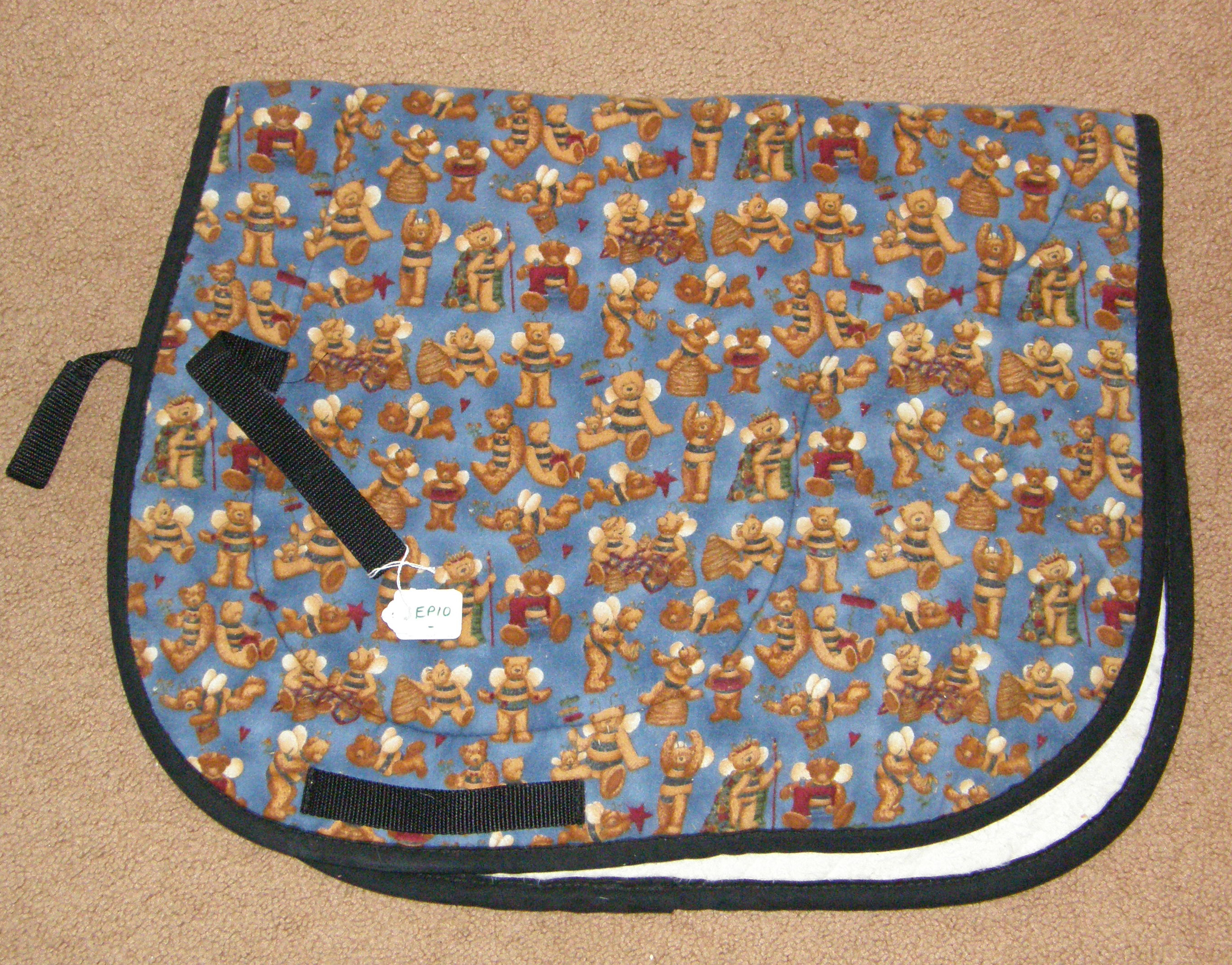 Brushed Cotton Event Pad English Saddle Pad Honey Bees & Bears Print
