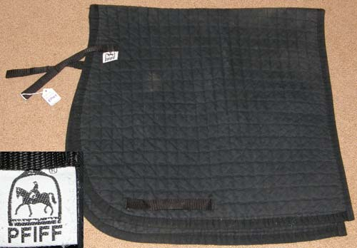 Pfiff Dressage Pad Quilted Cotton Dressage Pad English Saddle Pad Black