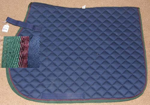 WeatherBeeta Shaped Front Quilted Cotton Padded Event Style Pad AP All Purpose English Saddle Pad Navy Blue