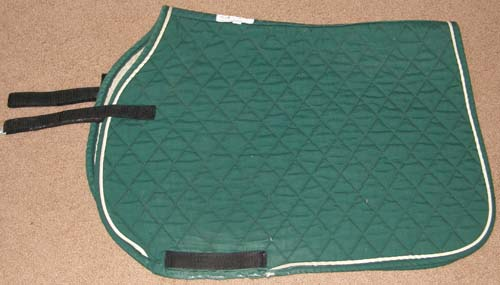 SLT Contour Front Quilted Cotton Event Style Pad Dressage Pad Quilted Cotton English Saddle Pad Hunter Green