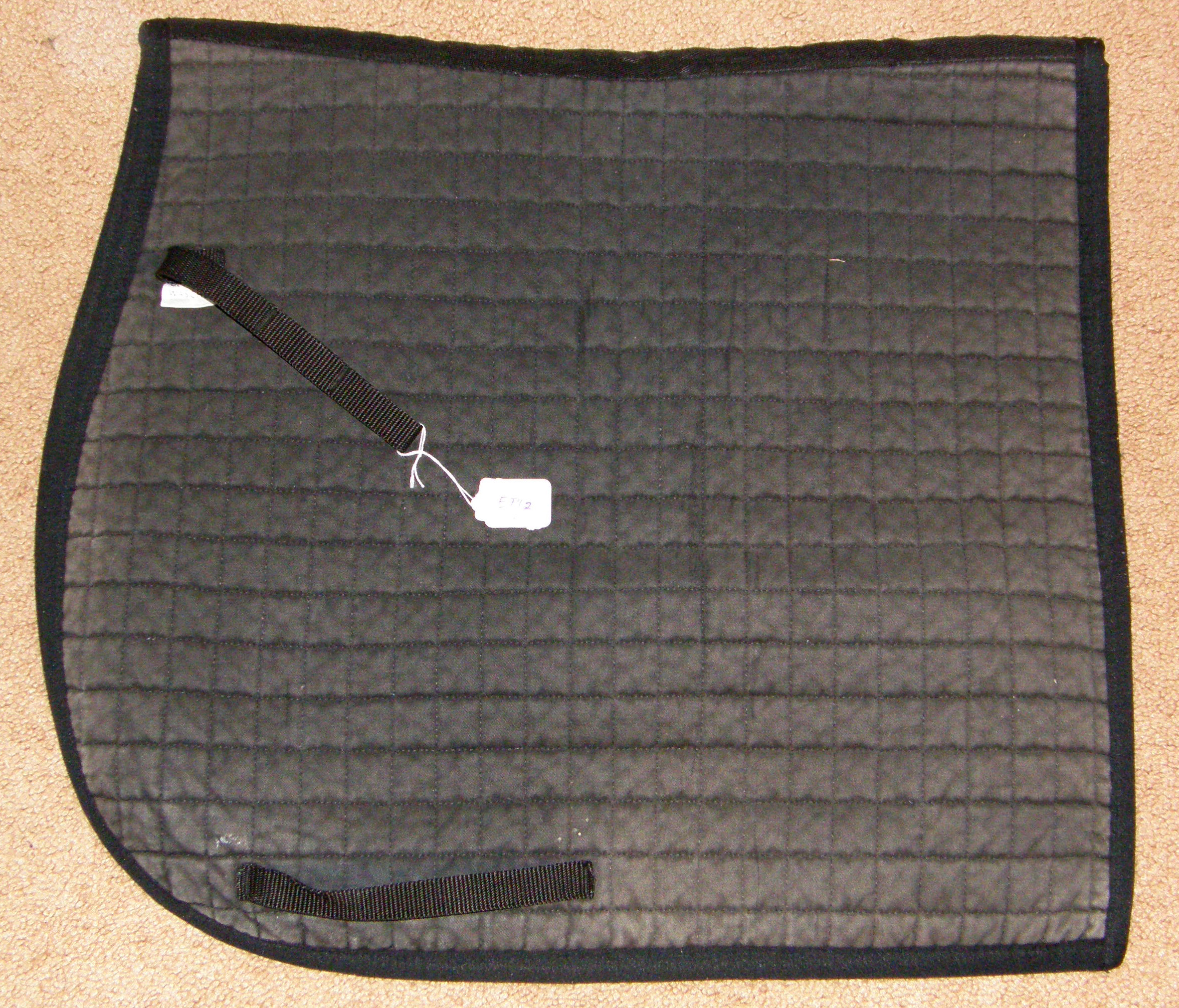 Pfiff Dressage Pad Quilted Cotton Dressage Pad Event Pad English Saddle Pad Black