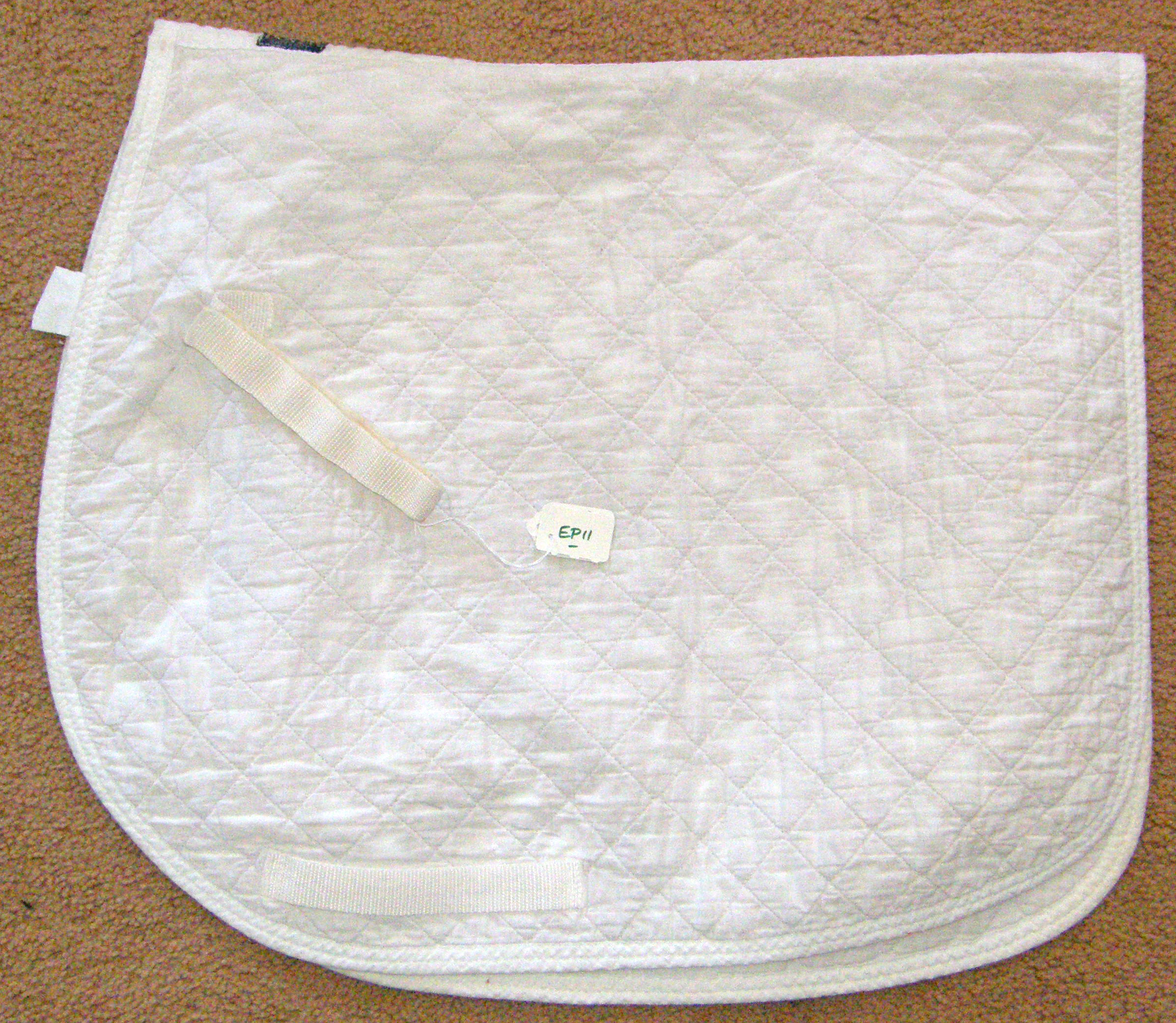 Millers Roma Lite Thin Quilted Dressage Pad Quilted Cotton Event Pad English Saddle Pad White