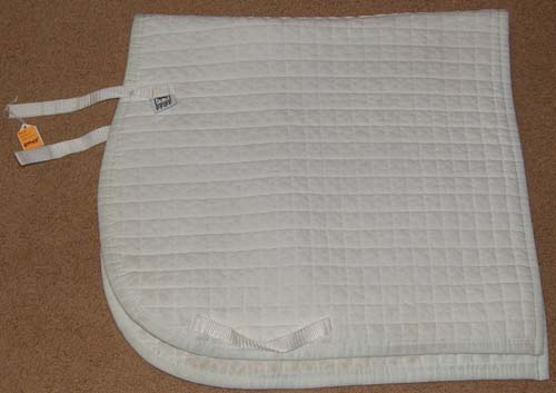 Pfiff Dressage Pad Quilted Cotton Dressage Pad Event Pad English Saddle Pad White