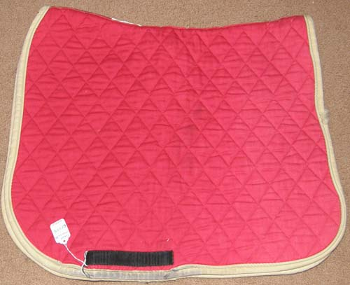Toklat Classics III Quilted Cotton Dressage Saddle Pad English Saddle Pad Red