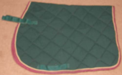 Millers Roma Shaped Front Quilted Cotton Padded Event Style Pad AP All Purpose English Pad Hunter Green