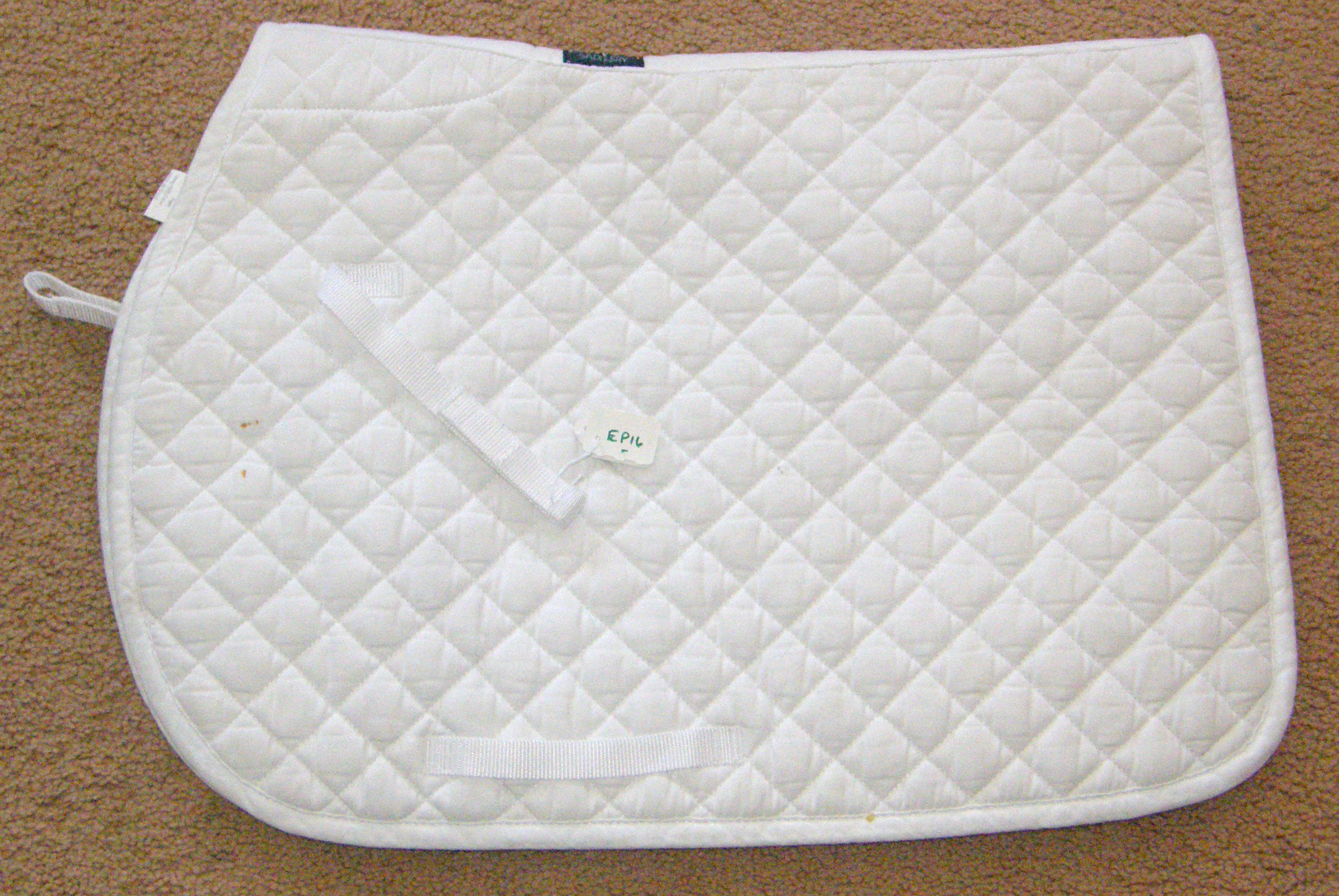 Dover Quilted Cotton Event Pad English Saddle Pad Black White