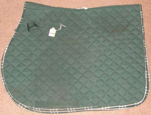 Cavalier Century Quilted Cotton Dressage Pad Event Pad AP English Saddle Pad Hunter Green