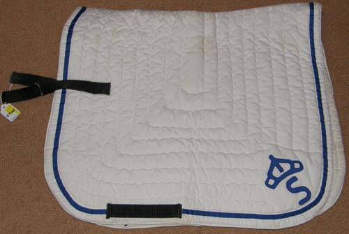 Quilted Cotton Dressage Pad English Saddle Pad White