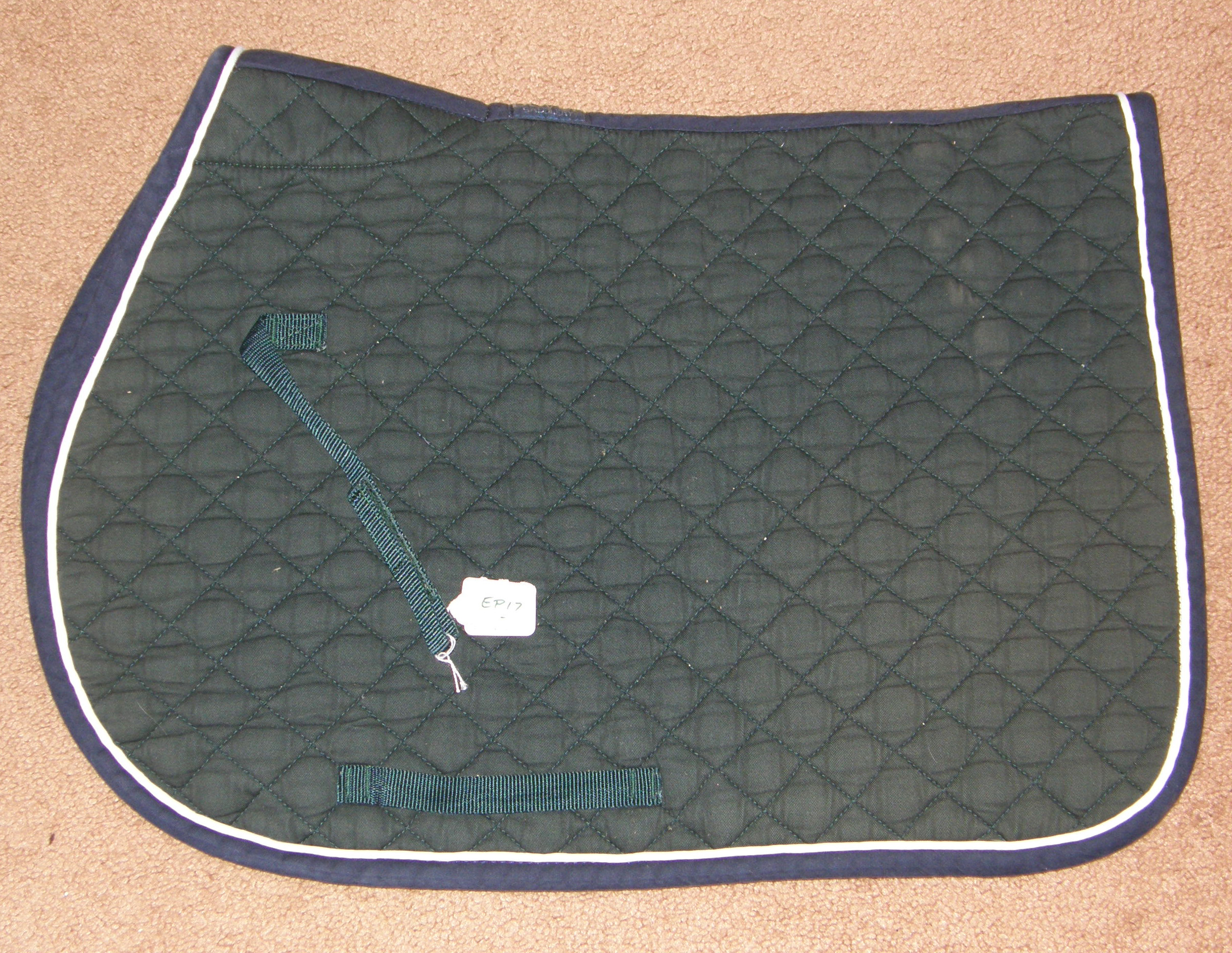 Dover Quilted Cotton Event Pad English Saddle Pad Hunter Green