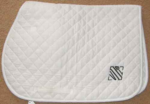 Dover Riders Quilted Dressage Pad Quilted Cotton Event Pad Padded English Saddle Pad AP Pad White