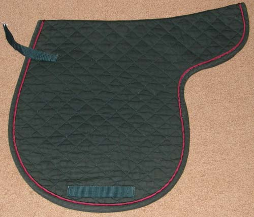 Quilted Cotton Contour Pad AP English Saddle Pad HG/Burgundy