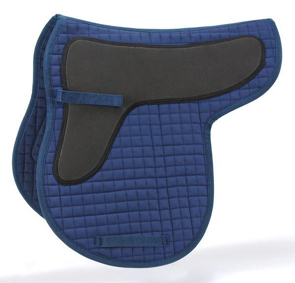Quilted Cotton Contour English Saddle Pad with Shock Absorber Pad Shock Pad Shaped English Saddle Pad Red White
