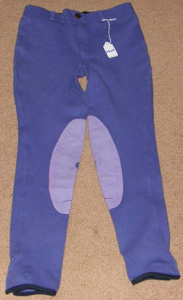 Tuff Rider Pull On Schooling Tights Knee Patch English Breeches Riding Pants Childs M Purple