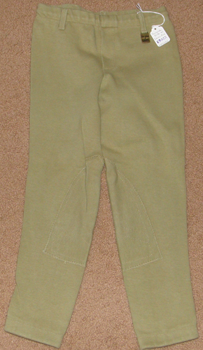 Devon Aire Concour Elite Pull On Jodhpur Breeches Knee Patch English Breeches Riding Pants Childs M Khaki