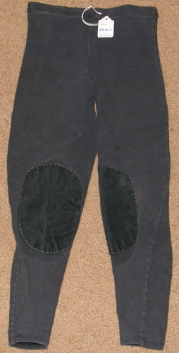 Phelans Pull On Schooling Tights Knee Patch English Breeches Riding Pants Toddler Childs M Black