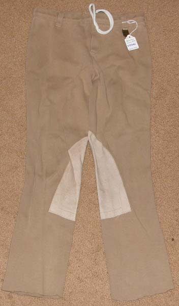 Devon Aire Concour Elite Pull On Breeches Knee Patch English Breeches Riding Pants Childs M Beige