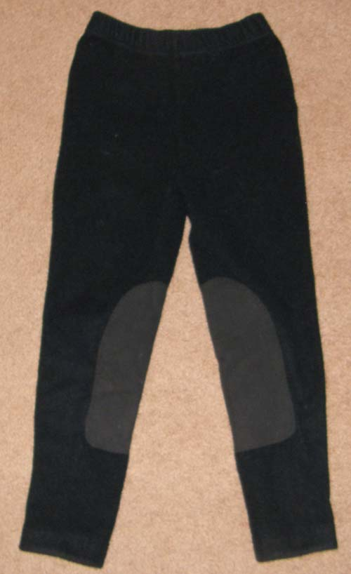 EQ Polartec Fleece Pull On Breeches Polar Fleece Knee Patch English Breeches Winter Riding Pants Childs M Black