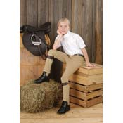 Comfort Riders Cotton Pull On Jodhpur Breeches Knee Patch English Breeches Riding Pants Childs XS M L XL Khaki