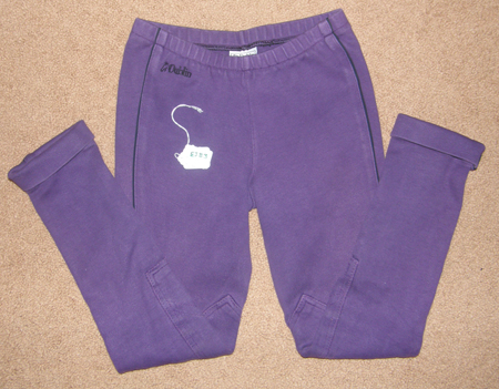 Dublin Cotton Pull On Jodhpur Breeches Knee Patch English Breeches Riding Pants Childs M L Purple