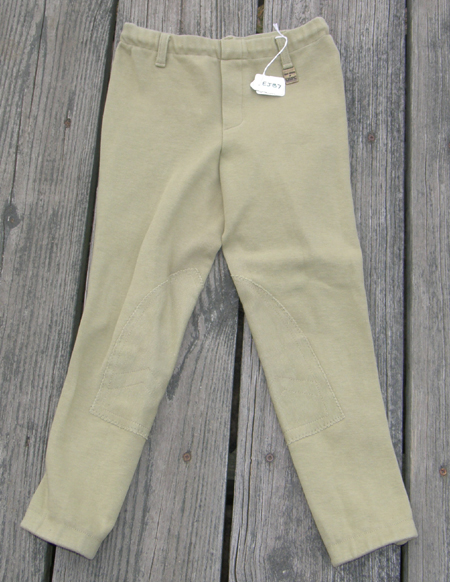 Devon Aire Concour Elite Pull On Jodhpur Breeches Knee Patch English Breeches Riding Pants Childs S Lt Khaki