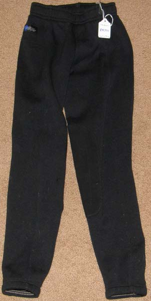 Irideon Fleece Lined Pull On Knee Patch Breeches Winter Riding Breeches Childs S Black