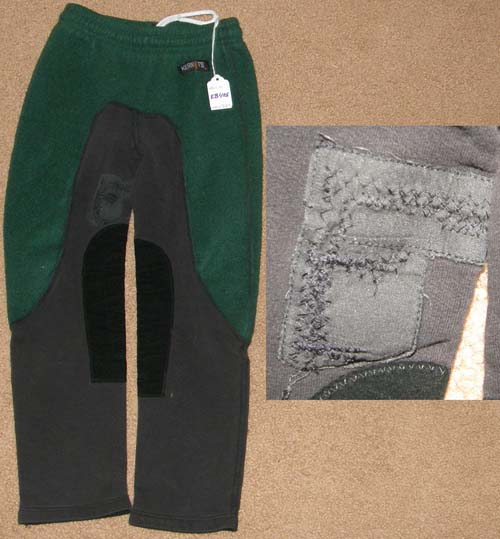 Kerrits On Course Pull On Fleece Schooling Tights Knee Patch English Breeches Winter Riding Pants Childs S Hunter Green