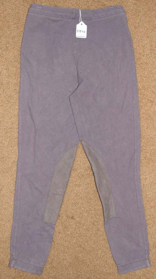 Pull On Schooling Tights Knee Patch English Breeches Riding Pants Childs S Lavender Purple