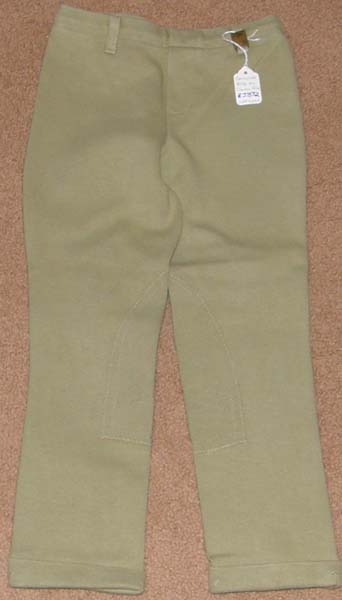 Devon Aire Concour Elite Pull On Jodhpur Breeches Knee Patch English Breeches Riding Pants Childs S Khaki