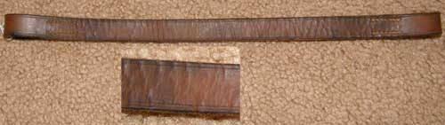 Flat Browband English Browband Western Browband Brown Replacement Bridle Part