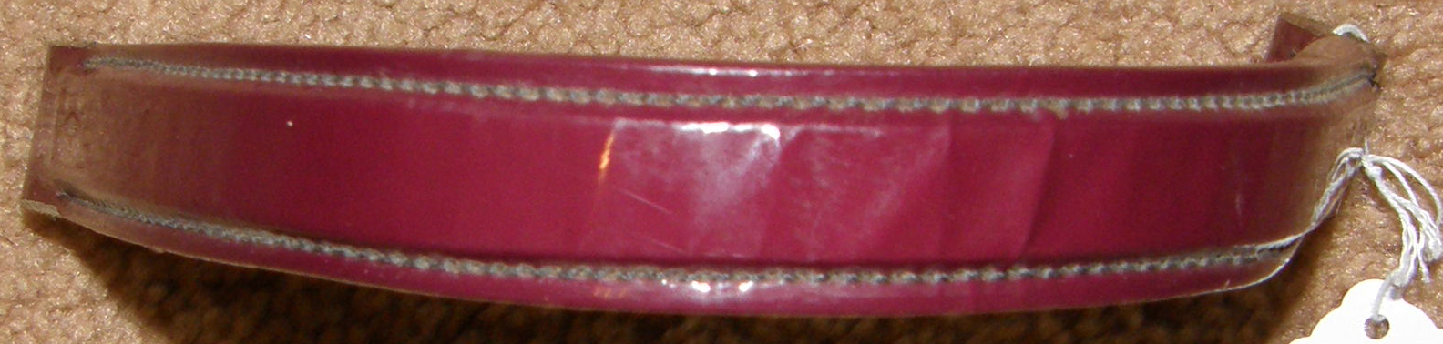 Patent Leather Browband Gaited Horse English Browband Western Browband Burgundy Replacement Bridle Part