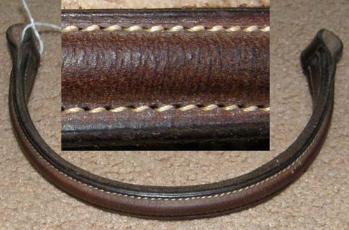 Round Raised Browband English Bridle Browband English Browband Dark Brown Replacement Bridle Part