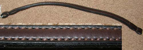 Doubled & Stitched Leather English Bridle Browband English Browband Western Browband Dark Brown Replacement Bridle Part