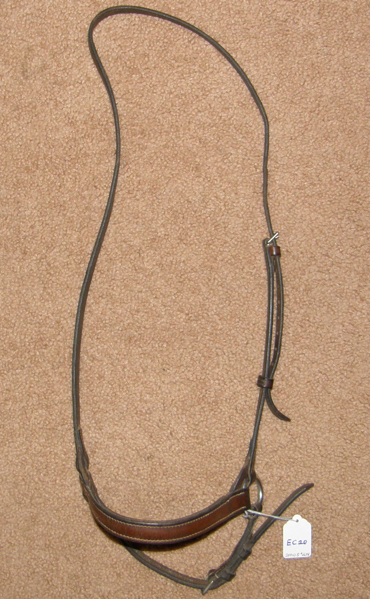 Dropped Noseband English Caveson WB XL Horse Brown