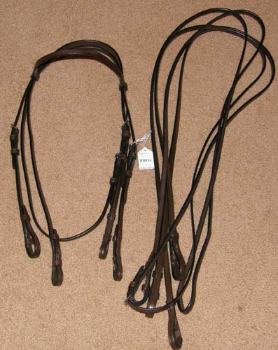 Whitman Englandia Weymouth Bridle Full Bridle Double Bridle English Bridle with Snaffle & Curb Reins Cob