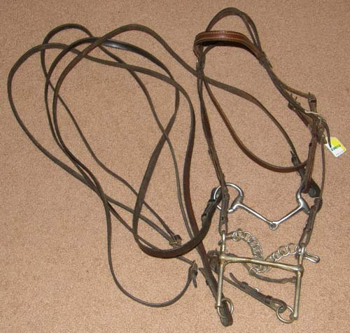 Weymouth Bridle Full Bridle Double Bridle English Bridle with Snaffle & Curb Reins Mullen Mouth Weymouth & Bradoon Bits Horse
