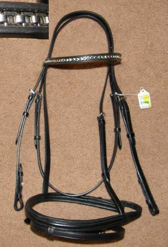 Otto Schumacher? Padded Raised Snaffle Bridle Headstall Black English Headstall Bridle XL Horse O/S WB