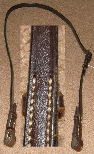 English Snaffle Bit Hanger Bradoon Hanger Bridoon Hanger Slip Strap English Headstall Horse Dark Brown Lunging Headstall