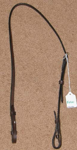 English Snaffle Bit Hanger Bradoon Hanger Bridoon Hanger Slip Strap English Headstall Cob Dark Brown Lunging Headstall
