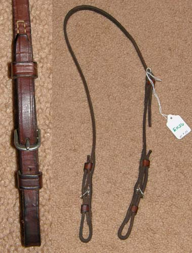 English Snaffle Bit Hanger Bradoon Hanger Bridoon Hanger Slip Strap English Headstall Cob Brown Lunging Headstall