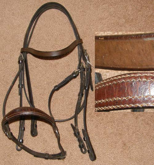 English Headstall Full Bridle Double Bridle English Bridle Dark Brown Horse