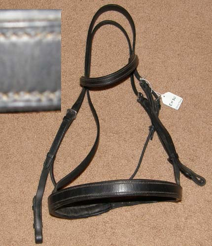 Black Padded Lined Snaffle Bridle English Bridle English Headstall Dressage Bridle Horse