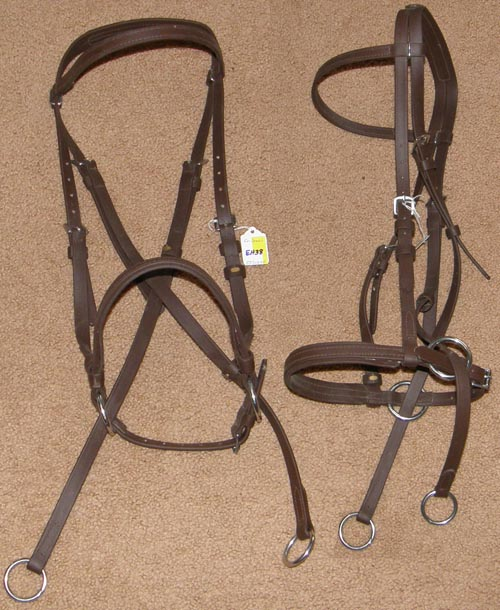 Dr Cooks? Beta Biothane Bitless Bridle English Headstall English Bridle Cob/Medium Brown