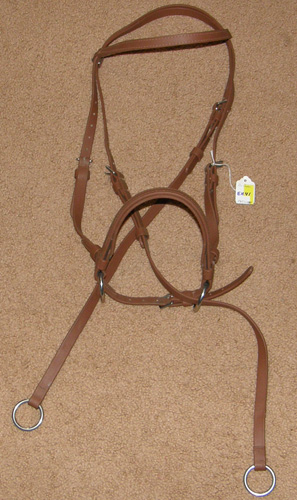 Dr Cooks? Beta Biothane Bitless Bridle English Headstall English Bridle Brown Horse