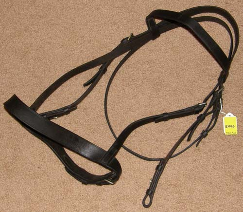 Flat English Headstall Flat Snaffle Bridle Horse English Bridle Dark Brown