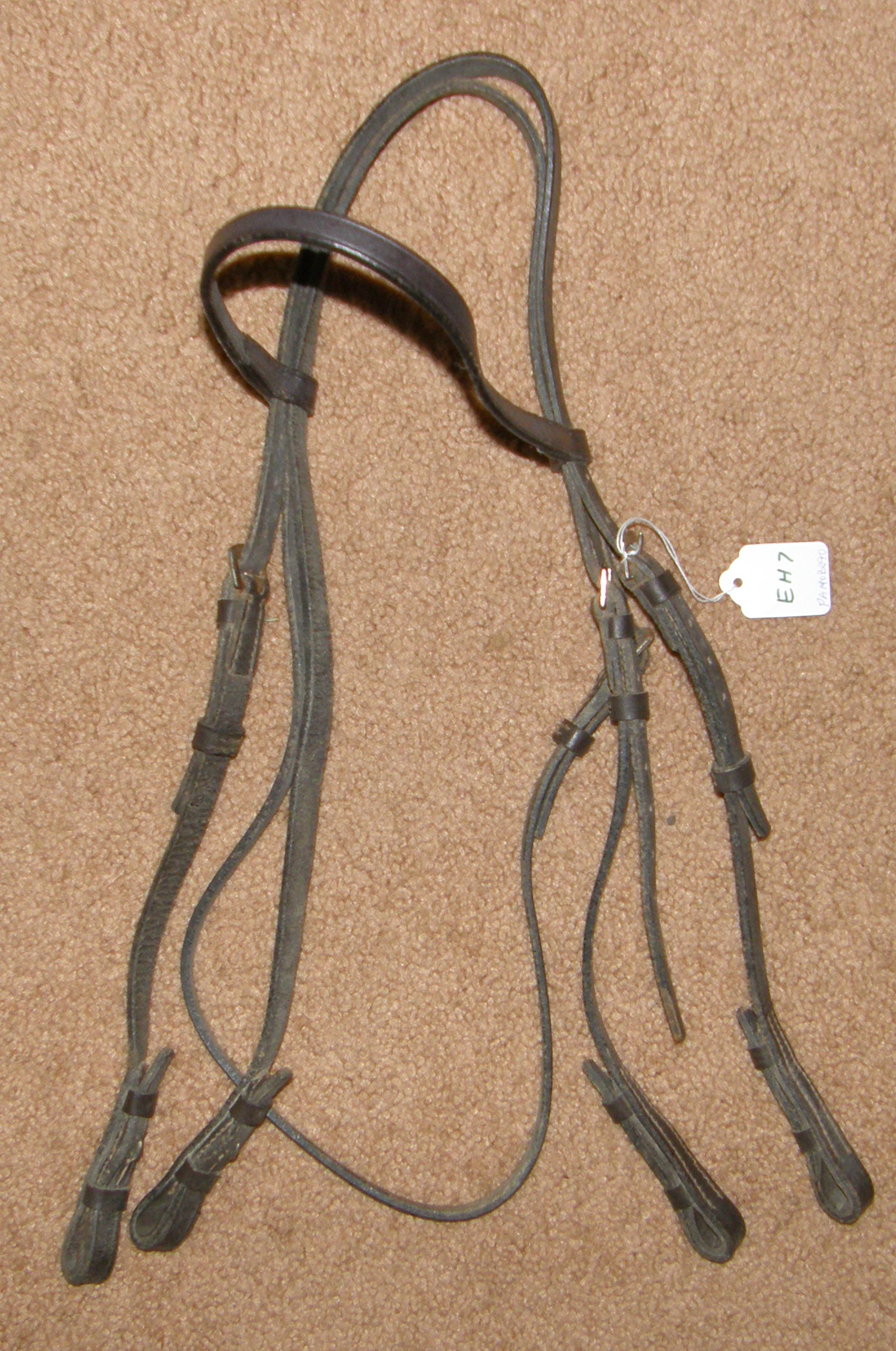 English Headstall Full Bridle Double Bridle Headstall Horse Dark Brown