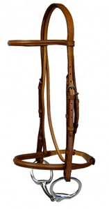 Wexford Round Raised Snaffle Bridle Pony English Bridle with Laced Reins Antique Brown