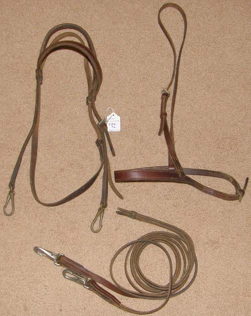 Victor Supreme Work Bridle English Bridle with Snaps Western or English Headstall Caveson & Reins Snap Ends Arabian Training Bridle