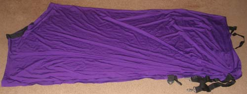 Epona Lycra Full Body Slinky Sheet Slinky Sheet Sleazy Sheet XL Horse Purple