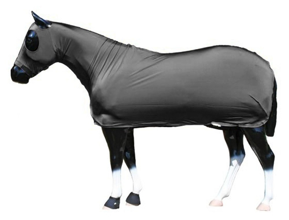 Sleazy Sleepwear Lycra Stretch Sheet Full Body Slinky Sheet Slicker Sheet Lycra Full Body Cover Sleazy Full Bodies Sheet XL Horse Black