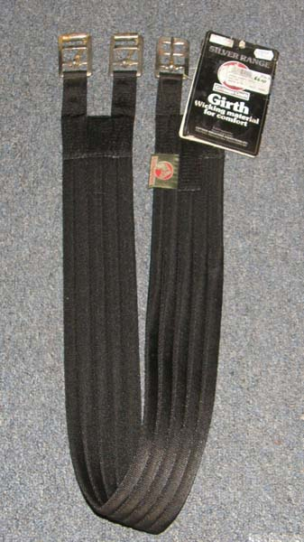 "Cottage Craft 46"" Synthetic English Padded Girth Fabric Girth Black"